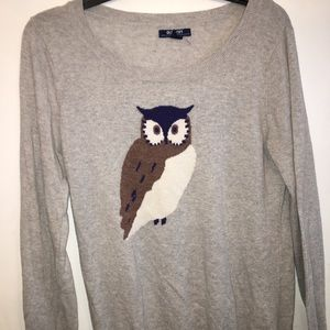 Old Navy Gray Owl Sweater